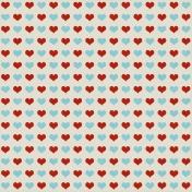 Hearts 08 Paper- Aqua & Red
