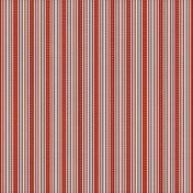 Stripes 03- Red & Aqua