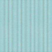 Stripes 04- Aqua & Red