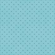 Hearts 13 Paper- Aqua Glitter