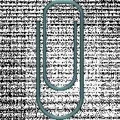 Paper Clip 05- Aqua
