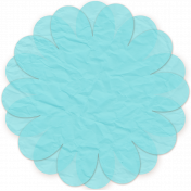 Paper Flower 12- Aqua