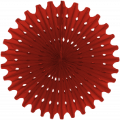 Paper Fan Flower - Red