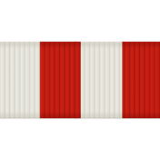 Thin Ribbon- Stripes 01- Red & White