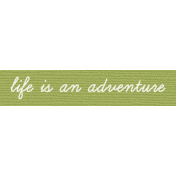 Bolivia Label- Life Is An Adventure