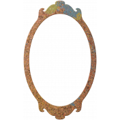Bolivia Cork Elements- Fancy Frame Painted