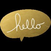 Bolivia Talk Bubble- Gold Hello