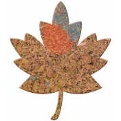 Bolivia Cork Elements- Small Maple Leaf Painted