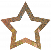Bolivia Cork Elements- Star Frame Painted