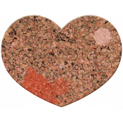 Bolivia Cork Elements- Heart Painted