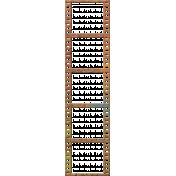 Bolivia Cork Elements- Filmstrip Frame Painted