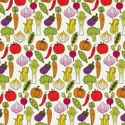 Veggie Patch- Happy Vegetables Paper