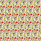 Veggie Patch- Happy Vegetables Paper- Small