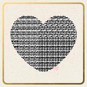 Bolivia Mini Kit- Gold Rim Heart Frame