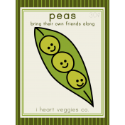 The Veggie Patch Cards Kit- Peas