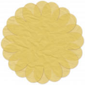 Paper Flower 12- Yellow