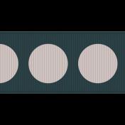 Fat Ribbon- Polka Dots 01- Teal & White