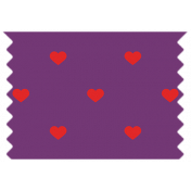 Veggie Patch Washi Tape- Purple Hearts