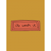 Autumn Art Cards Kit- Its Worth It Journal Card