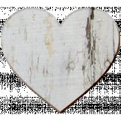 Veggie Patch Wood- Heart