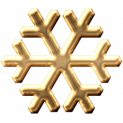 Metal Snowflake 01- Gold