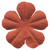 Autumn Art Flower- Orange 5 Petals