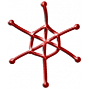 Metal Snowflake 03- Red