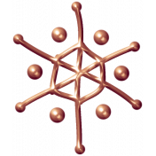 Metal Snowflake 04- Copper