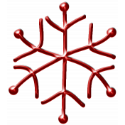 Metal Snowflake 06- Red