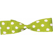 Kawaii Halloween Bow- Green Polka Dot