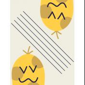 Kawaii Halloween Cards- Double Polka Dot Monster