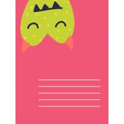 Kawaii Halloween Cards- Green Polka Dot Monster