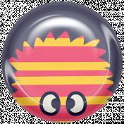 Kawaii Halloween Brad- Monster Stripes