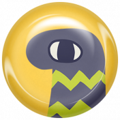 Kawaii Halloween Brad- Yellow