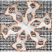 Paper Glitter Snowflake- Orange