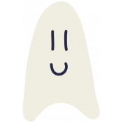 Kawaii Halloween Ghost 001