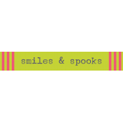 Kawaii Halloween Label- Smiles & Spooks
