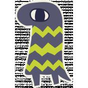 Kawaii Halloween Monster 001 Chevron