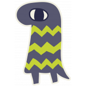 Kawaii Halloween Monster 001 Chevron