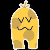 Kawaii Halloween Monster 003 Yellow Spots