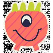 Kawaii Halloween Monster 004 Orange Stripes