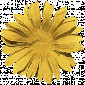 Kawaii Halloween Flower- Silk Yellow