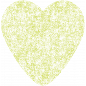 Kawaii Halloween Stamp- Green Heart