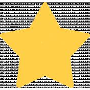 Kawaii Halloween Stamp- Yellow Star