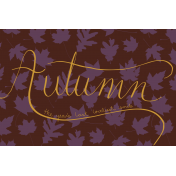 Autumn Art Cards Kit- Loveliest Smile (4x6)