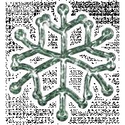 Snowflake Glitter Sticker- Teal