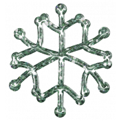 Snowflake Glitter Sticker- Teal