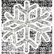 Snowflake Glitter Sticker- White