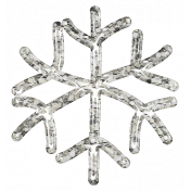 Snowflake Glitter Sticker- White