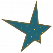 Blue Polka Dot Star